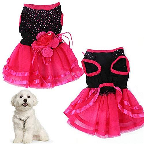 DC CLOUD Ropa para Perros Vestido de Perro Vestido de Novia Dulce Cachorro Cachorro Ropa para Mascotas Vestido de Fiesta Ropa de Perros L