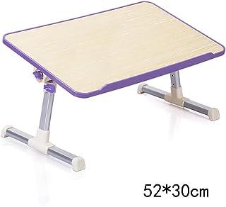 Mesas de Ordenador portátil Mesas de Escritorio Plegables Sencillas con radiador (3 Colores, 2 Estilos Opcionales Opcionales) (Color : Purple, Estilo : A)