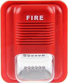 HshDUti - Sistema de alarma de incendios para montar en la pared, rojo