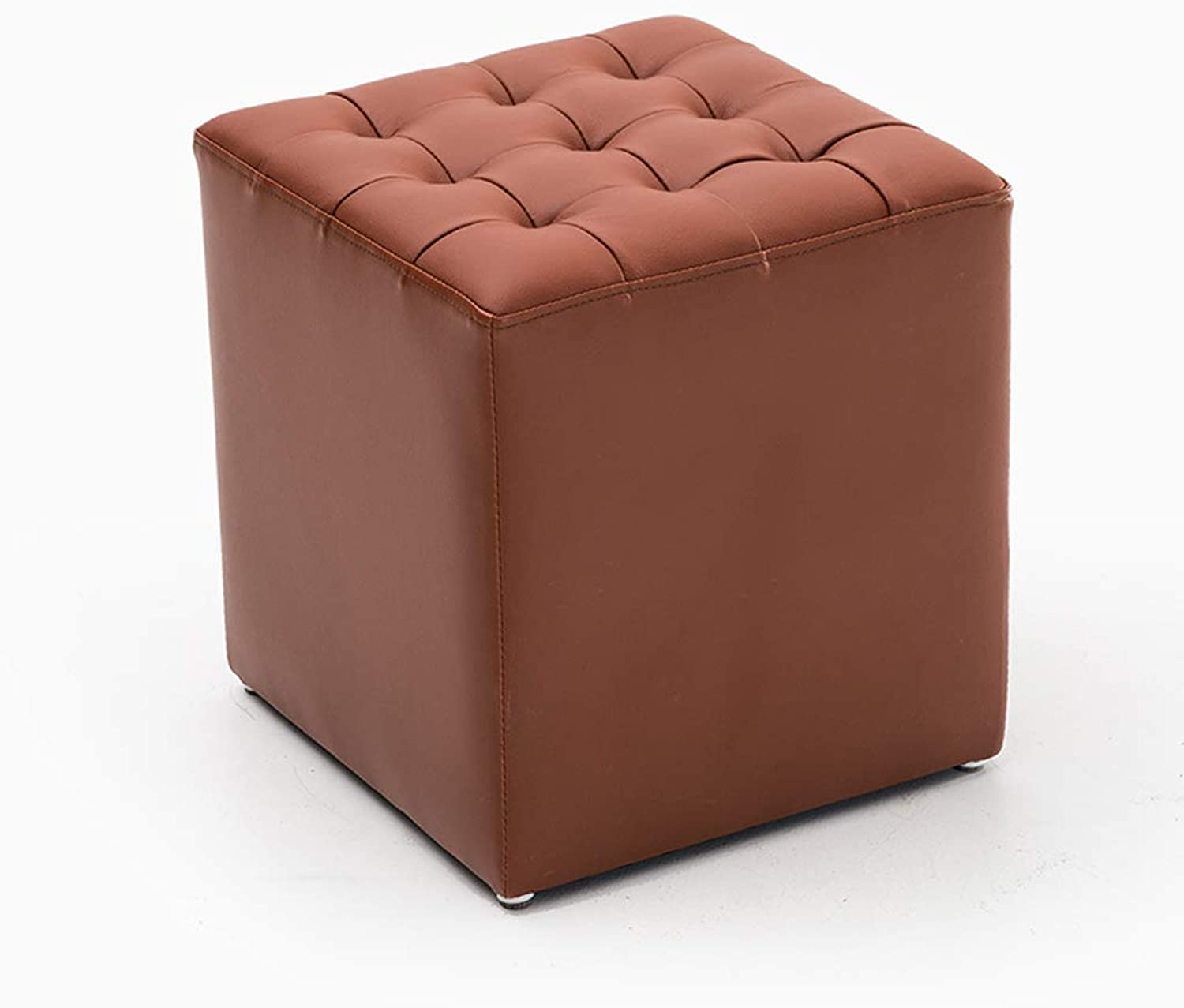 Footstool, Sofa Bench Thickening shoes Bench Makeup Stool Cushion Living Room Bedroom 4 colors (color   A)