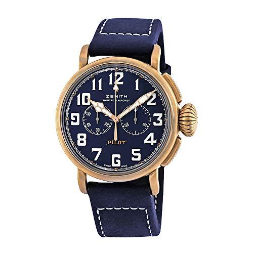 Zenith Pilot Tipo 20 cronografo automatico blu orologio da uomo 29.2430.4069/57.C808