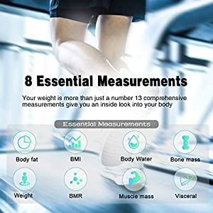 Bluetooth Body Fat Scale,BMI Body Composition Analyzer,Smart Digital Bathroom Weight Scale with Smartphone Fitness APP