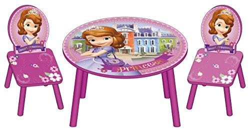 Arditex - 088324 - Ensemble Table + 2 Chaises en Bois - La Petite Princesse Sofia
