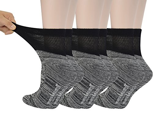 Yomandamor Women's Bamboo Diabetic Ankle Socks