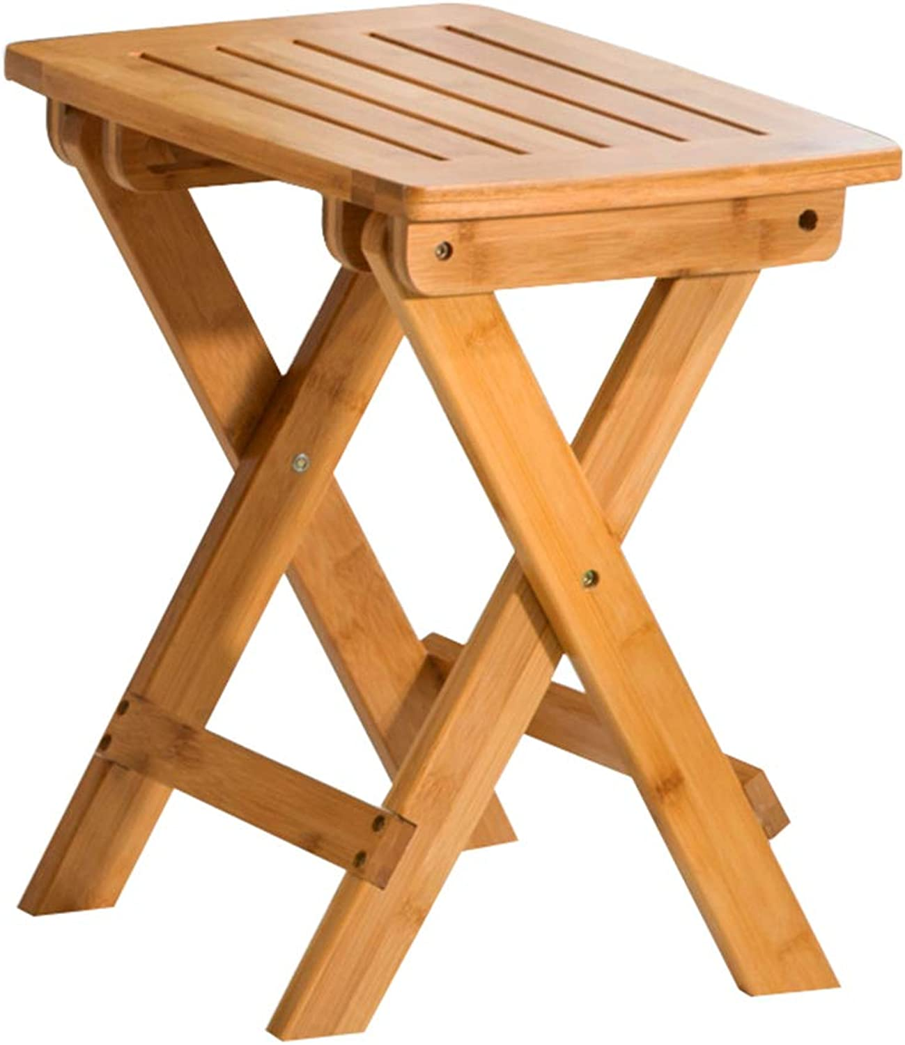 Stool - Folding Chair, Small Bench for Home, Bamboo Dining Chair Portable Stool Modern Simple Wooden Bench (color   A, Size   33  25  35cm)