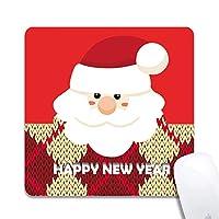 クリスマスサンタクロース拡張人間工学に基づいたゲーミングマウスパッド、正方形200x200x3mmマウスパッドカスタムデザインラバースクエア200x200x3mmマウスパッド-クリスマスサンタクロース