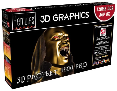 Hercules 3D Prophet Radeon 9800 Pro Grafikkarte, 128MB DDR, DVI, TV-Out