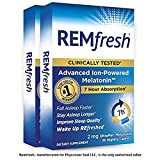 REMfresh 2mg Advanced Melatonin Sleep Aid Supplement (2 Pack of 36 caps) | Sleep Supports Immune Function | #1 Doctor Recommended | Drug-Free, Pharmaceutical-Grade Sleep Aid, Ultrapure Melatonin