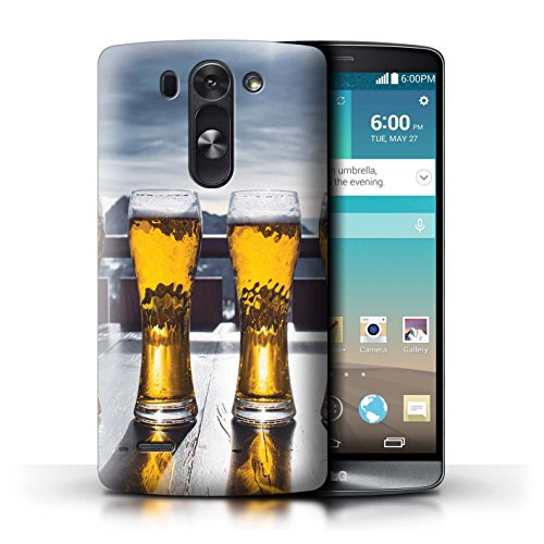 Stuff4® Custodia/Cover/Caso/Cassa Rigide/Prottetiva Stampata con Il Disegno Sciare/Snowboard per LG G3 Mini S/D722 - Apres/Capanna di Sci/Birra