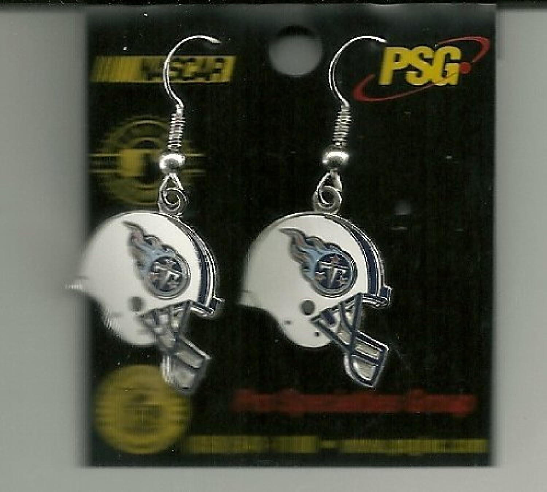 Tennesse Titans Helmet J Hook Earrings by Fan Treasures