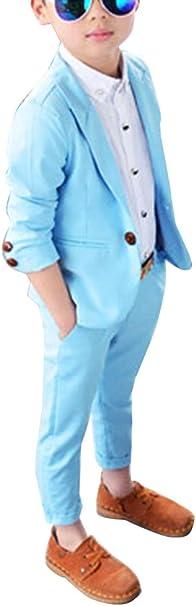 Gladiolusa Jungen 2 Stuck Formal Anzug Satze Festliche Kleidung Hochzeit Blazer Jacke Hose Amazon De Bekleidung