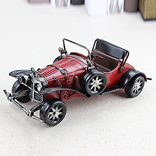Vintage hecho a mano clásico modelo de coche adornos hierro artesanía vehículo figuras retro coche miniatura bar muebles niños juguetes regalos