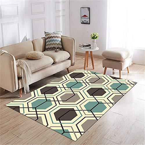 Cuadros cabecero Cama Matrimonio alfombras Exterior Jardin Alfombra de salón Gris Amarillo Azul Antideslizante Suave y no se desvanece alfombras en Rollo 140X200CM 4ft 7.1' X6ft 6.7'