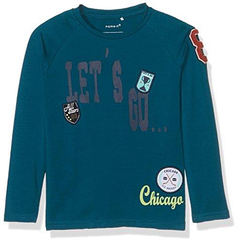 Name It Nitdipow Ls Top M Mini T- T-Shirt À Manches Longues, Rose Lyons Blue, 80 Bébé garçon