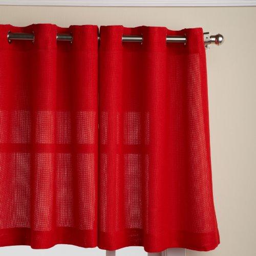 cortinas cocina rojas