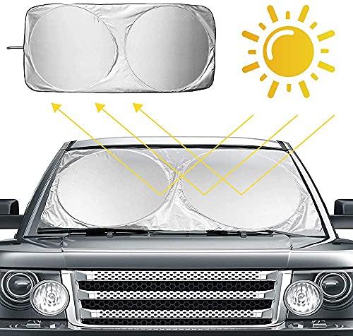 Ventdest Parasol Coche Delantero, Parasol para Parabrisas Coche, Coche Sol Sombra, Protector Solar para Coche Parasoles Cubierta de Parabrisas Plegable, Resistir a Los Rayos UV (160 x 86cm)