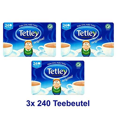 Tetley Schwarzer Tee 3x 240 Btl. 2250g - Original englische Version