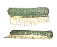Bonamaison 100% algodón Toalla hammam Fina turca, Pesthemal, Toallas de baño, Toallas de Playa, 98 X 172 Cm - Fabricado en Turquía