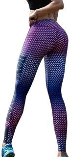 LHDDWY - Mallas de compresión anticelulitis, talle alto, delgadas, quemadores de grasa, pantalones de yoga para deportes, gimnasio, correr,, Rosa, small