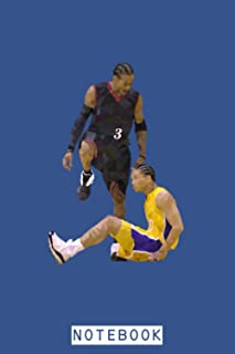 Allen Iverson Step Over Tyronn Lue Notebook: Diary, Planner, Journal, 6x9 120 Pages, Lined College Ruled Paper, Matte Fini...
