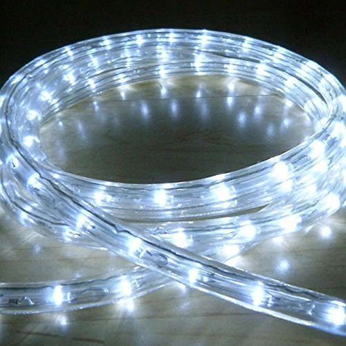 Galaxy Lighting Plastic Waterproof LED Rope Light with Adapter (10m, White)