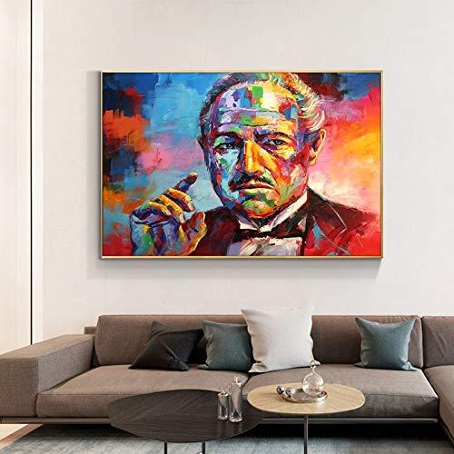 AJleil Puzzle 1000 Piezas Película clásica Padrino Arte Lienzo Pintura Retrato de Color Abstracto en Juguetes y Juegos Gran Ocio vacacional, Juegos interactivos familiares50x75cm(20x30inch)