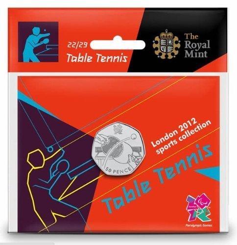 Royal Mint London 2012 50p Sports Collection - Tenis de mesa