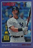 2019 Topps Heritage CHROME - Gleyber Torres - PURPLE REFRACTOR - ROOKIE CUP ALL-STAR - SP SHORT PRINT - New York Yankees Baseball Card #THC413. rookie card picture