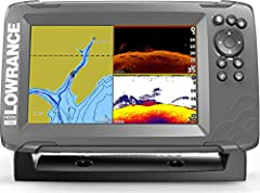 HOOK2 7 - 7-inch Fish Finder with SplitShot Transducer and US Inland Lake Maps Installed EASIEST TO USE: The Lowrance HOOK2 7 Fish Finder features auto-tuning sonar and phone-like menus giving you more time to spend fishing and less time dealing with...