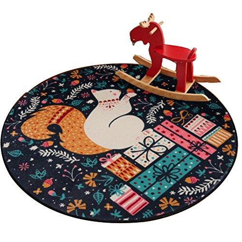 Ronda 80 CM alfombras para niños Juego Alfombra Silla Cuna Cojín de silla giratoria -A9