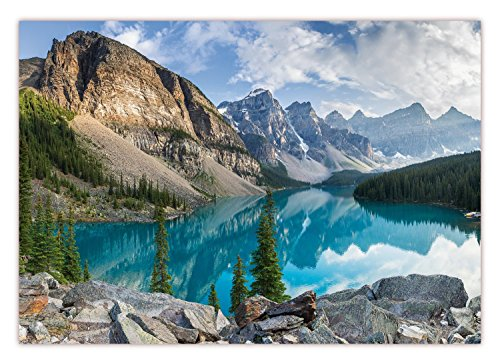 XXL Poster 100 x 70cm (S-826) Moraine Lake im Banff-Nationalpark in Alberta, Kanada Bergsee im Valley of the Ten Peaks in den Rocky Mountains (Lieferung gerollt!)