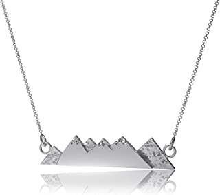 Dayna Designs Mountain Pendant Necklace - Sterling Silver Jewelry Small for Women/Girls