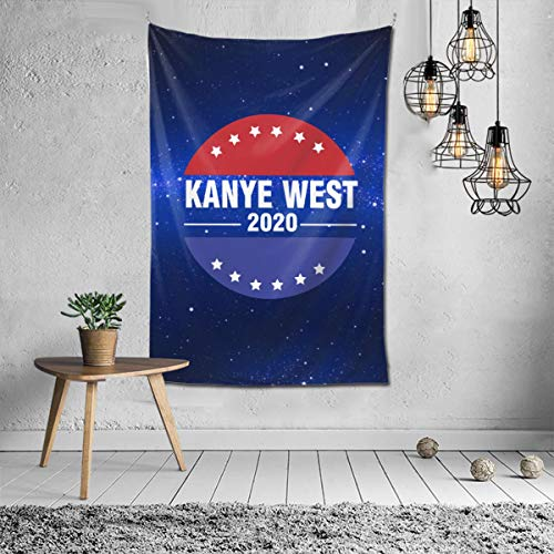 Wbydgoigo Kanye West 2020 President Tapestry Wall Hanging (60x40inches) Wall Art Tapestry for Dorm Home Decor