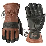 Men's Leather Winter Gloves, Waterproof Glove Insert, HydraHyde, Thinsulate, Large (Wells Lamont 7664L), Brown