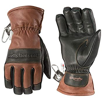 Men s Leather Winter Gloves Waterproof Glove Insert HydraHyde Thinsulate Large  Wells Lamont 7664L  Brown