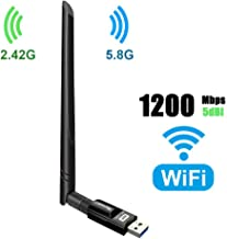 USB WiFi Adapter 1200Mbps TECHKEY USB 3.0 WiFi Dongle 802.11 ac Wireless Network Adapter..