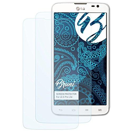 Bruni Schutzfolie kompatibel mit LG G Pro Lite Folie, glasklare Bildschirmschutzfolie (2X)