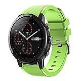 DIPOLA Correa de Correa de Reloj Deportivo Suave de Silicagel para Reloj Inteligente Amazfit Stratos 2S—Verde