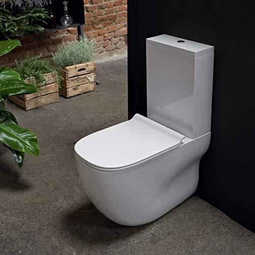 Ondyna Cristina - WC à poser - Pack WC complet WILD Blanc sortie horizontale ou verticale - Cristina Ondyna WWL3013