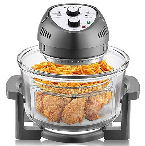 Big Boss Air Fryer Healthy 1300W XL 16-Quart + 50 Recipe Cookbook, 7 Colors!
