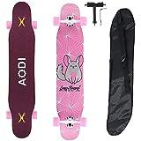 AODI 46 'Longboard Skateboard Komplettes 7 Lagen Ahornholz Double...