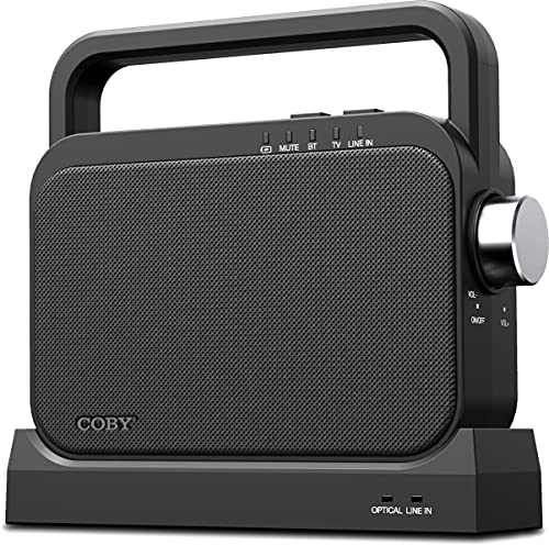 COBY Wireless Digital Hearing Amplifier TV Audio Speaker for Hard of Hearing - Portable TV Listening Assistance Bluetooth Speaker for Seniors, Elderly, and Hearing Impaired with Voice Highlighting