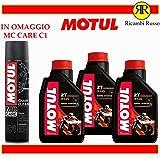 Motul 710 2T olio motore moto 2 tempi litri 3 + OMAGGIO MC Care C1 Chain Clean