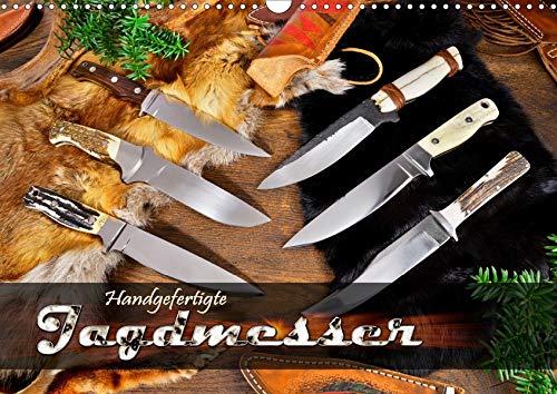 Handgefertigte Jagdmesser (Wandkalender 2020 DIN A3 quer): Jagdmesser mit feststehender Klinge in stimmungsvollem Arrangement (Monatskalender, 14 Seiten ) (CALVENDO Hobbys)