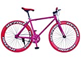 Helliot Bikes Soho 03 Bicicleta Fixie Urbana, Unisex Adulto, Negra/roja, M-L