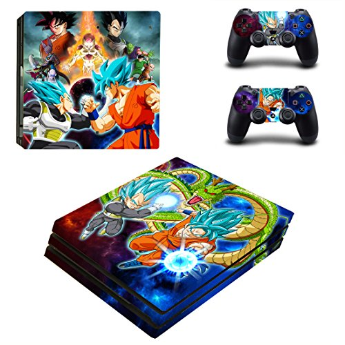 Vanknight PS4 Pro Playstation 4 PRO Console Skin Set Dragon Ball Vinyl Decal Sticker 2 Controllers (PRO only)