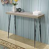 mewmewcat Contemporain Console Minimaliste,Table d'entrée Vintage Table d'entrée, Table de canapé Stable, 90 x 30 x 71,5 cm