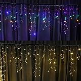 Solar-Lichterkette, 8 Modi, Weihnachtsbeleuchtung für Schlafzimmer, Terrasse, Hof, Garten, Hochzeit, Party, Außen- und Innenbereich, Wanddekoration