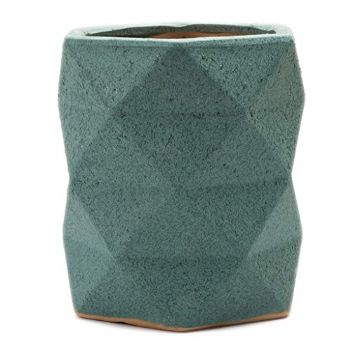 LHY-Blumentopf mit Blumenmotiv, 24 × 20/28 × 27 cm, Keramik, Origami, Balcone, Wohnzimmer, Büro, Klavier, Monster, Grün 20*24cm grün