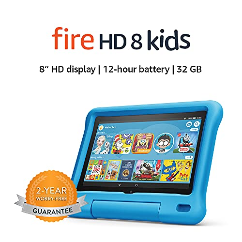 "Fire HD 8 Kids tablet, 8"" HD display, 32 GB, Blue Kid-Proof Case"